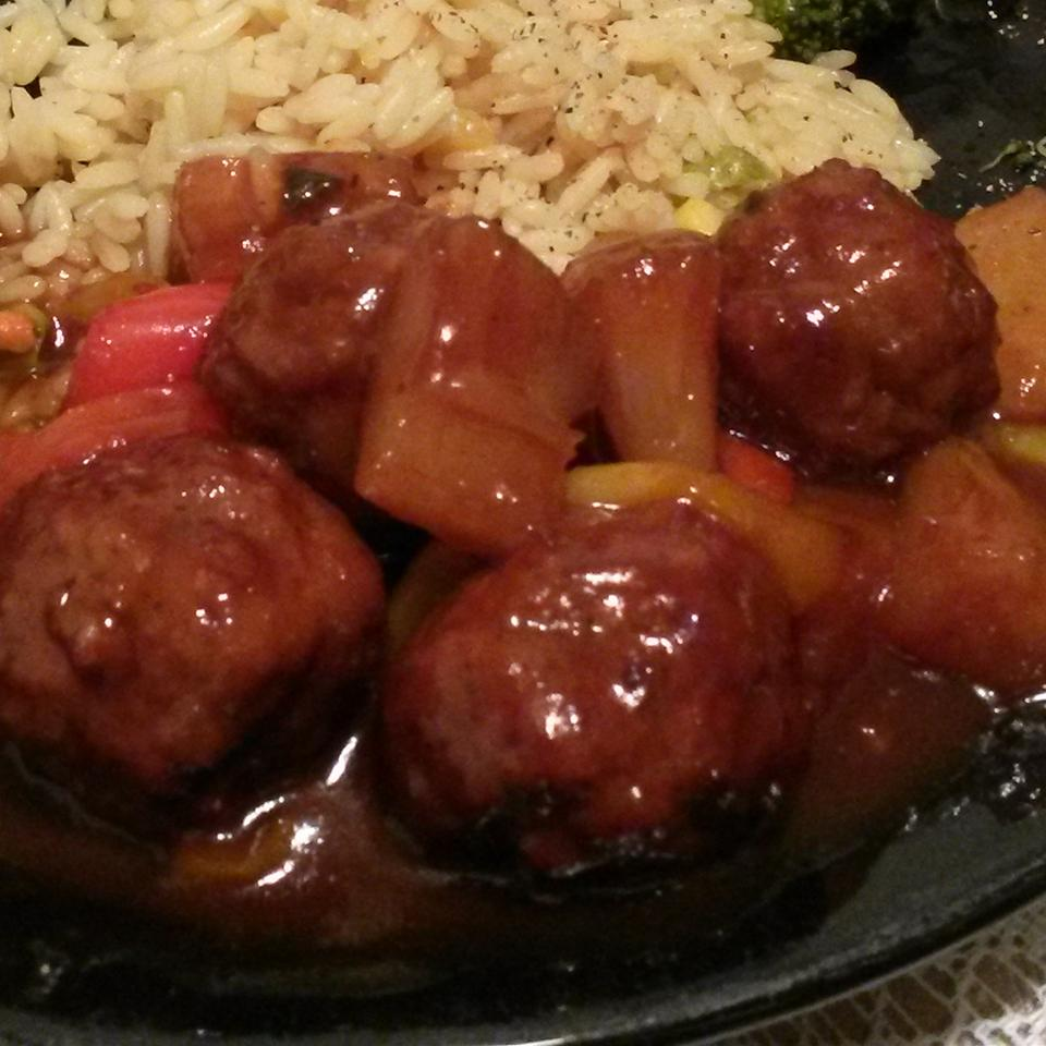Sweet and Sour Meatballs I Adam Luzier