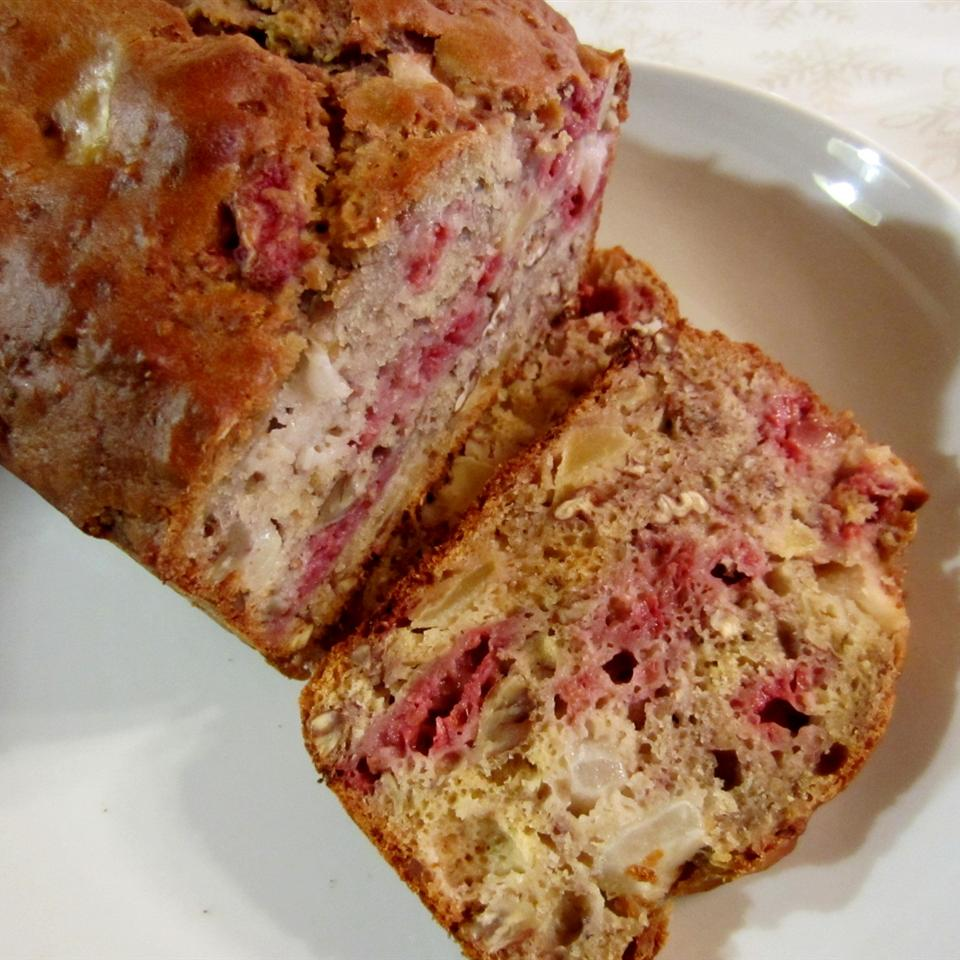 Raspberry/Pear/Pecan Bread