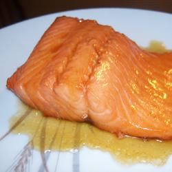Salmon with Brown Sugar and Bourbon Glaze CNM CATERING
