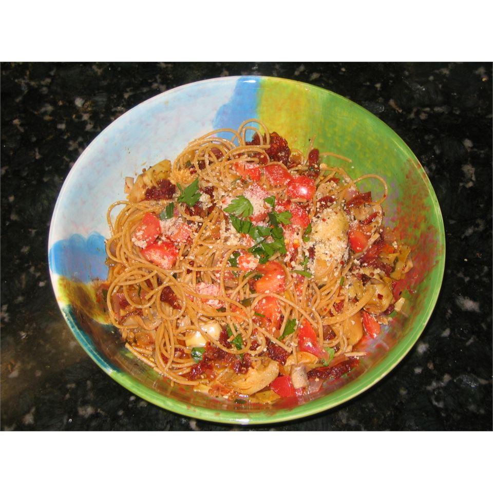 Carrie's Artichoke and Sun-Dried Tomato Pasta Godsend