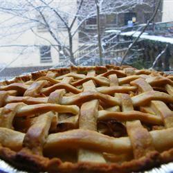 Glazed Apple Cream Pie