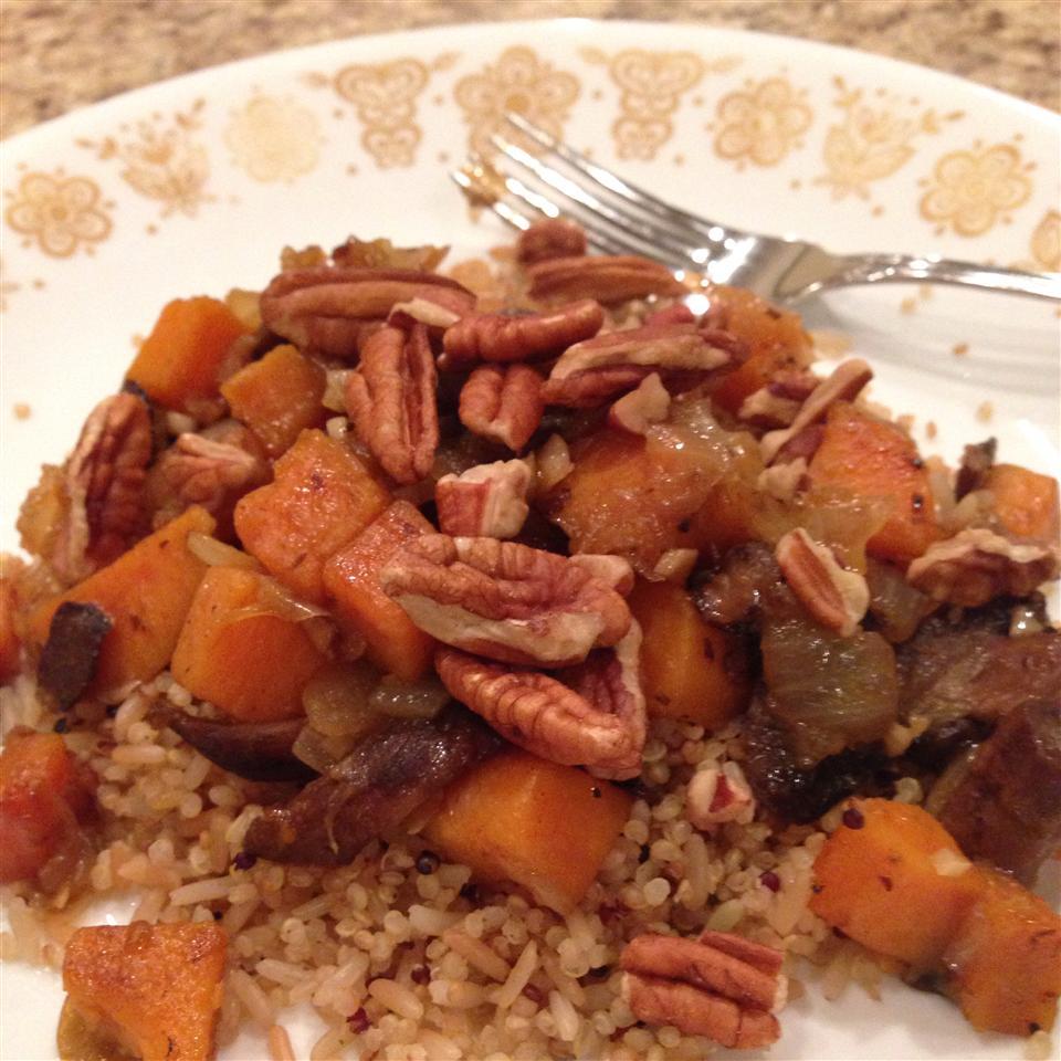 Quinoa with Sweet Potato and Mushrooms mary mysnyk