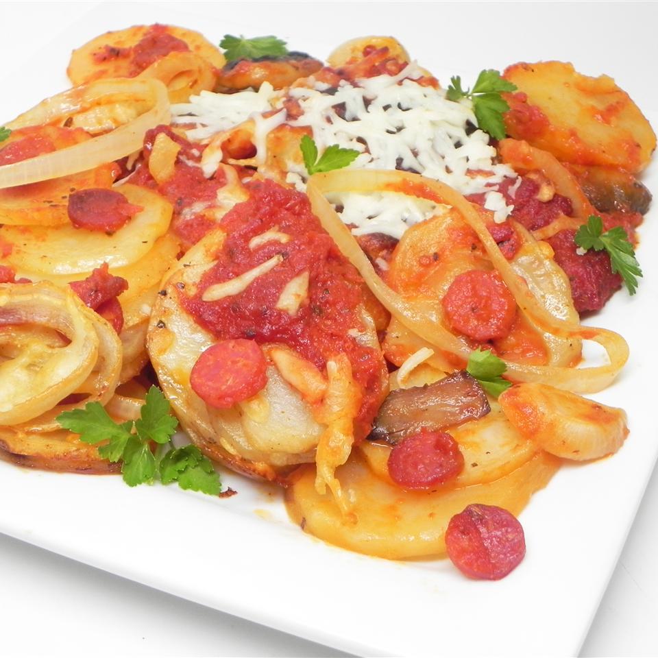 Slow Cooker Pizza Potatoes LADYBUG53