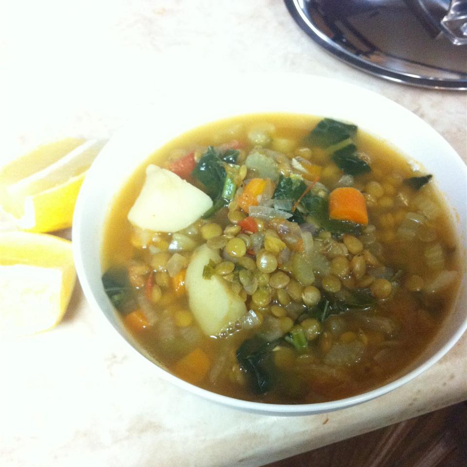 Lebanese Lemon Lentil Soup marmouche