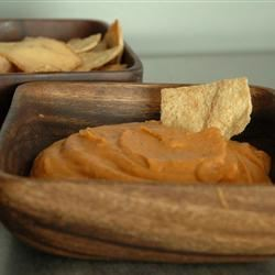 Spiced Sweet Roasted Red Pepper Hummus