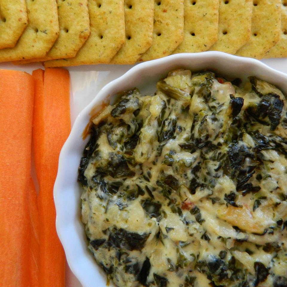 Spinach Artichoke Dip with Water Chestnuts