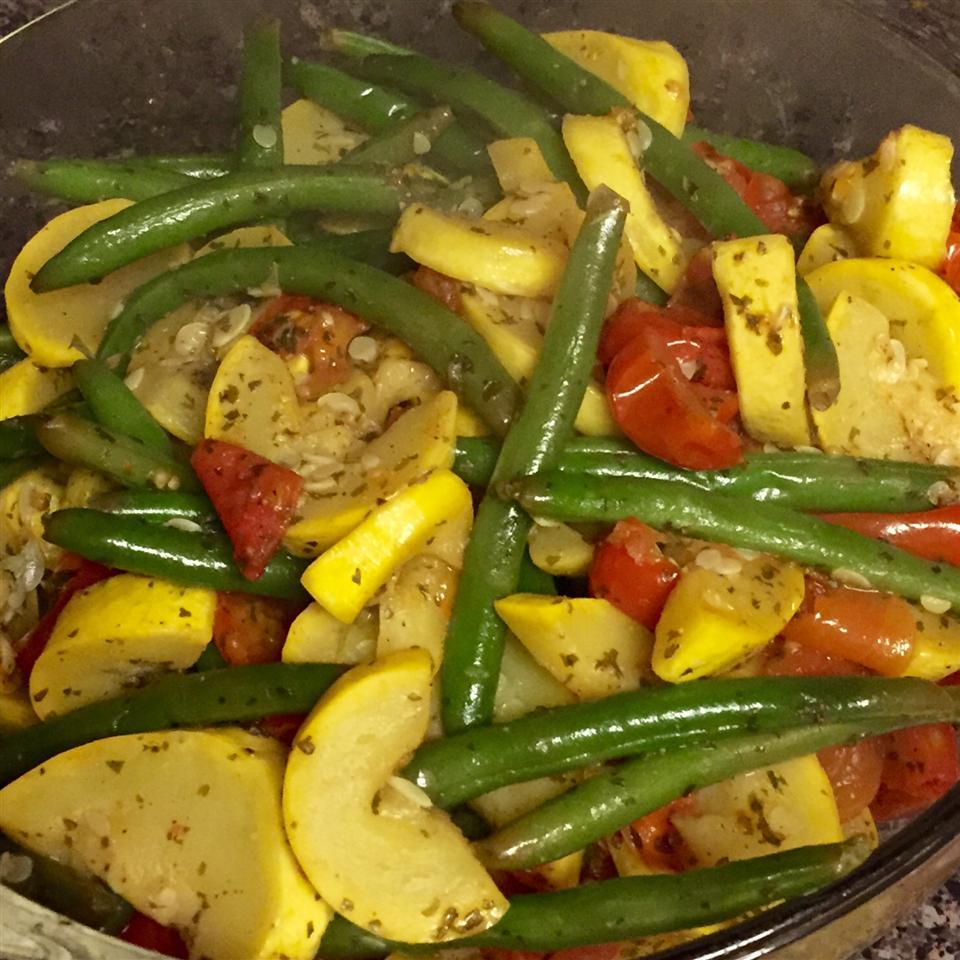 Squash and Green Bean Saute Side Dish Dee