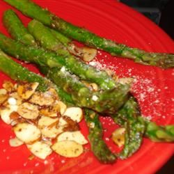 Asparagus with Sliced Almonds and Parmesan Cheese nancy