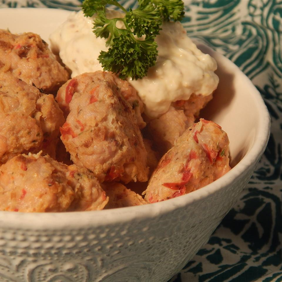 Savory Turkey Meatballs with Tangy Mustard Dip