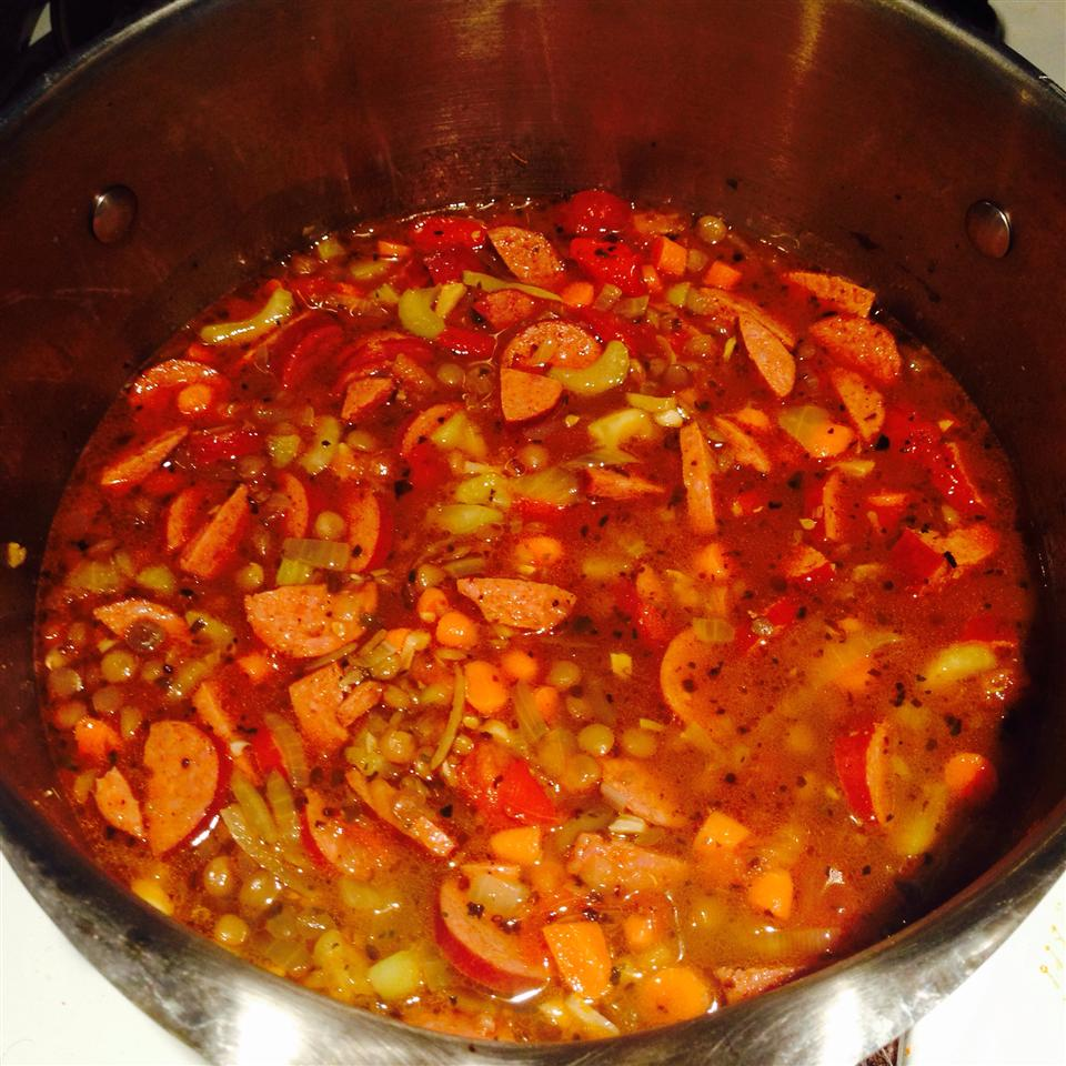 Lentil and Sausage Soup GreekD