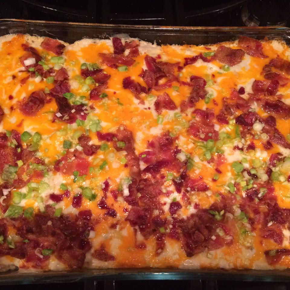 Cheesy Chicken and Potato Casserole with Bacon