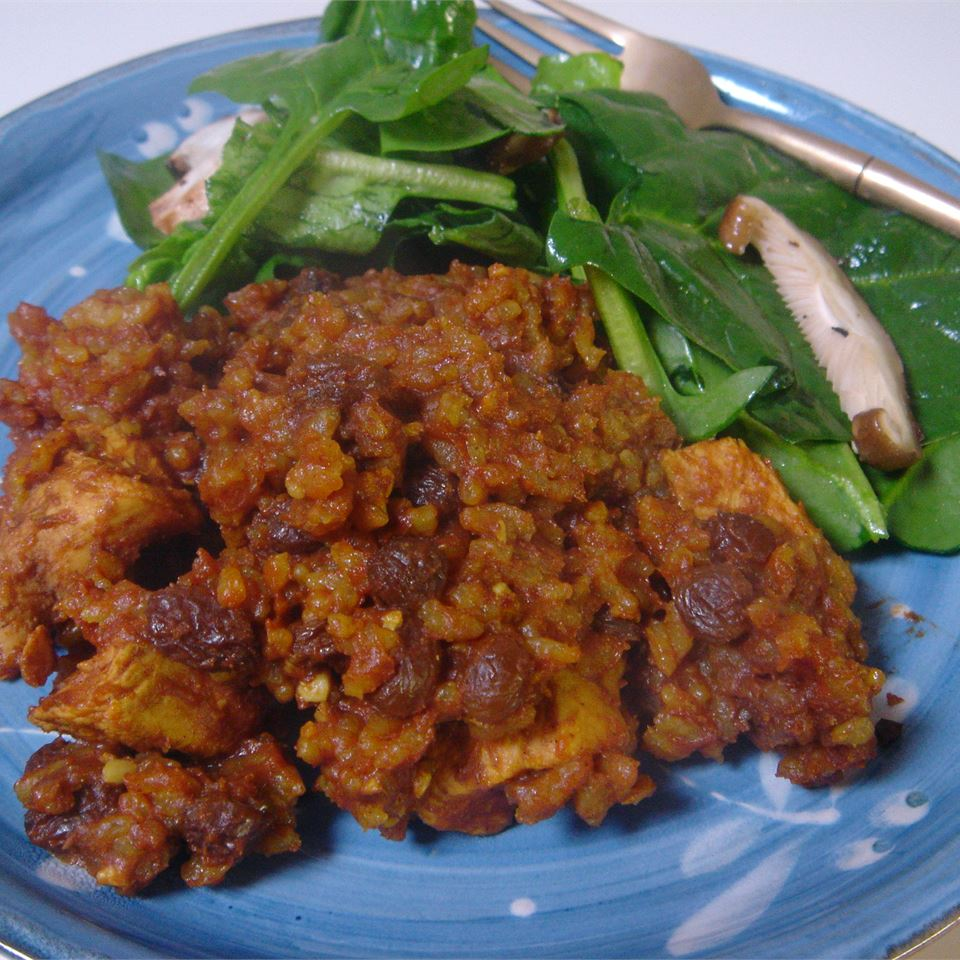 Curried Chicken and Brown Rice Casserole LynnInHK