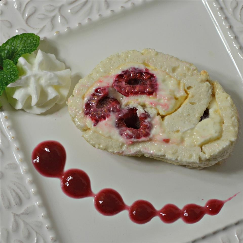 Raspberry and White Chocolate Roll