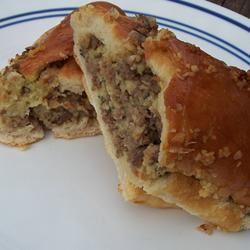 Sausage-Stuffed French Loaf pomplemousse