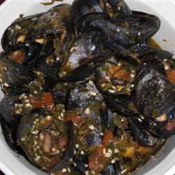 Patti's Mussels a la Mariniere Maria