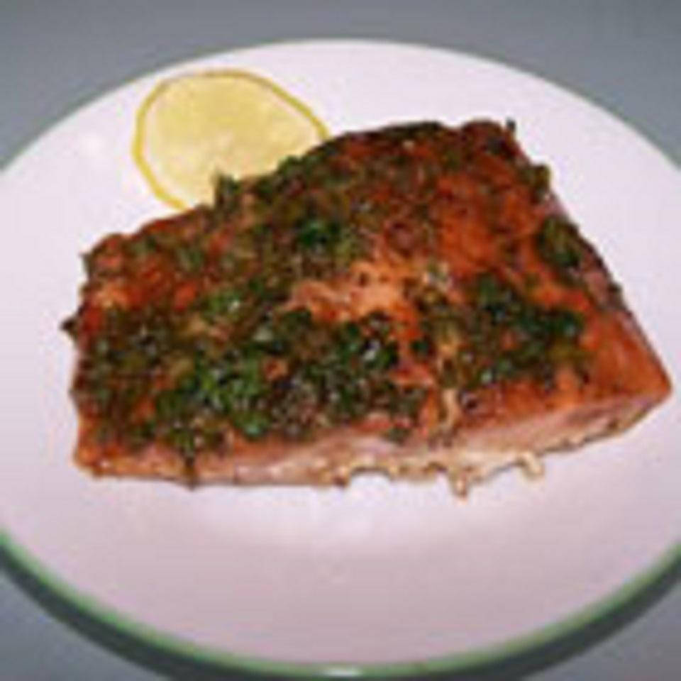 Simple Salmon with Balsamic Sauce Anonymous