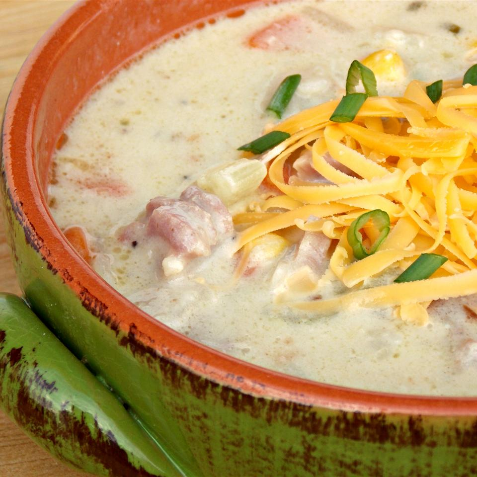 Cheesy Ham and Corn Chowder Baking Nana