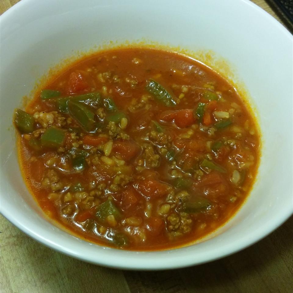 Stuffed Pepper Soup I Morghan Currin-Gowdy