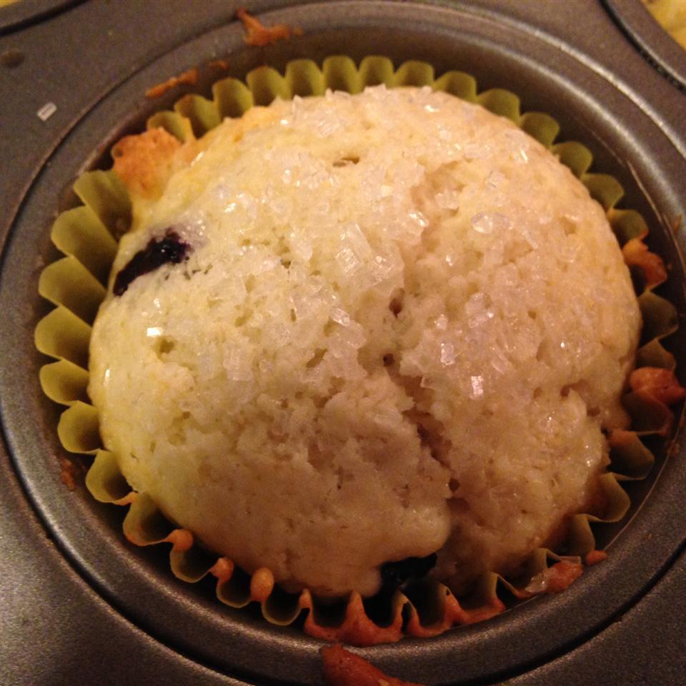 Low-Cholesterol Blueberry Muffins II christine
