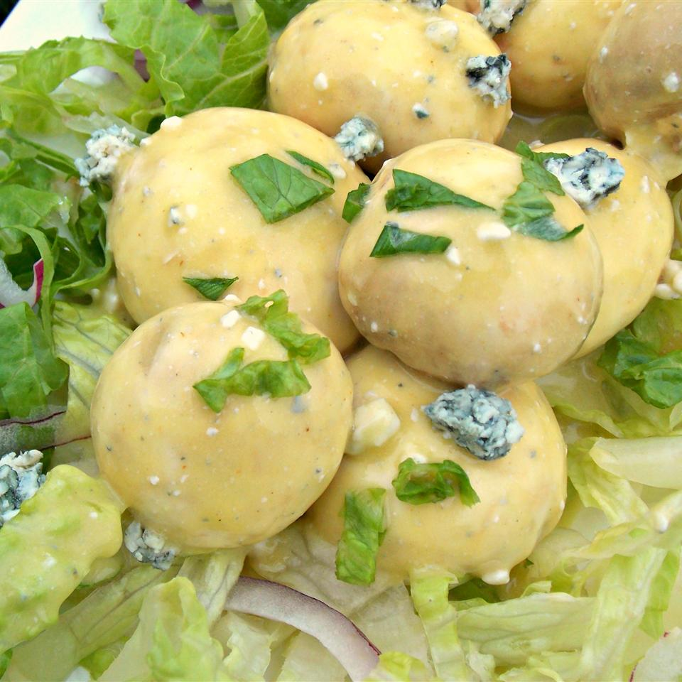 Marinated Mushrooms with Blue Cheese