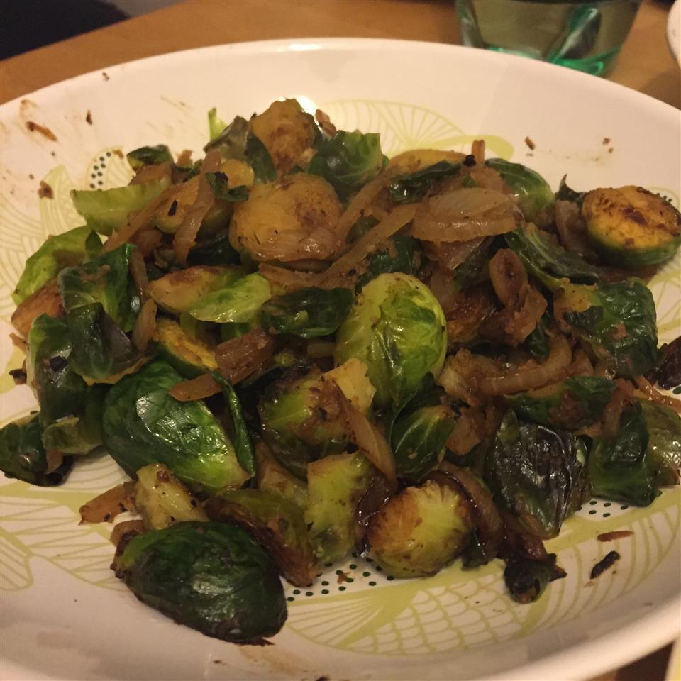 Pan Fried Brussels Sprouts Stef