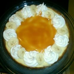Banana Cheesecake with Caramel Sauce angelmichelle