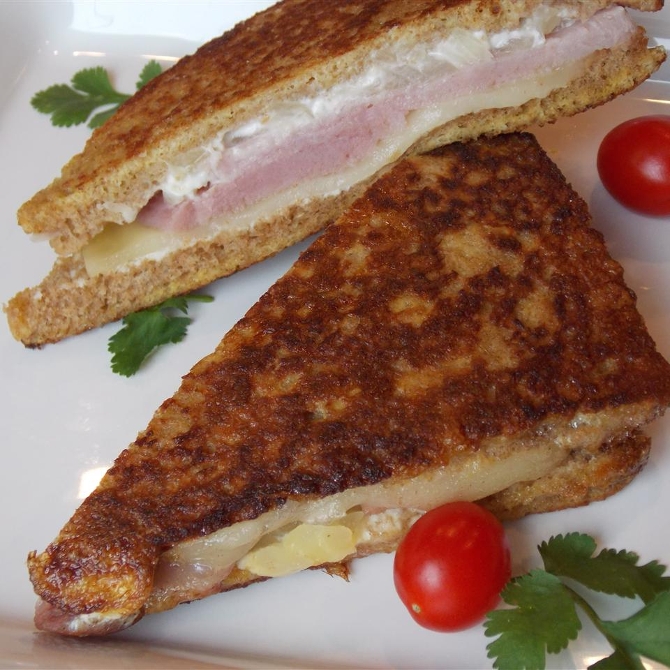 Ham and Pineapple Fried Sandwiches