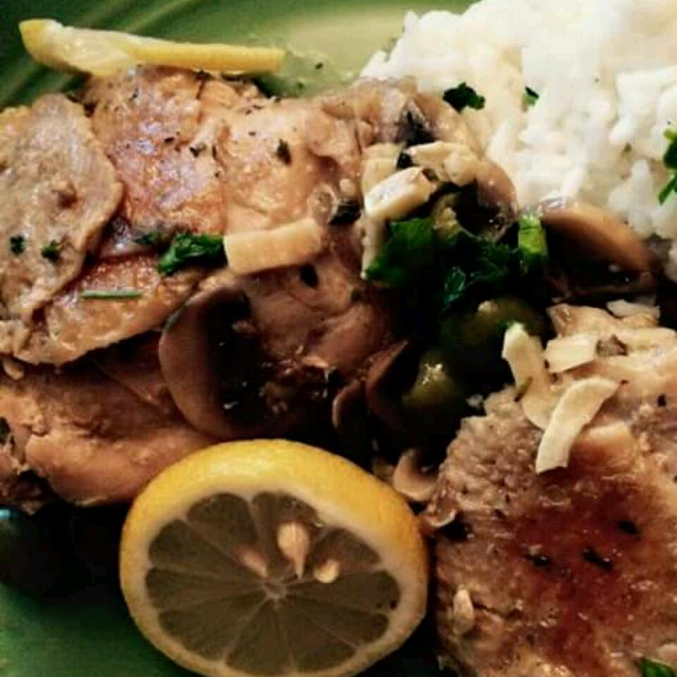 Chicken Thigh Fricassee with Mushrooms and Rosemary
