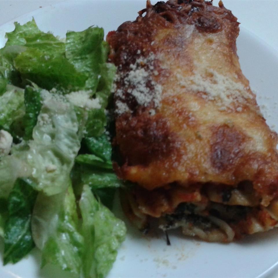 Spinach Manicotti with Italian Sausage Punker Mike