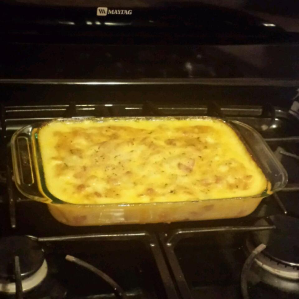 Leftover Ham -n- Potato Casserole