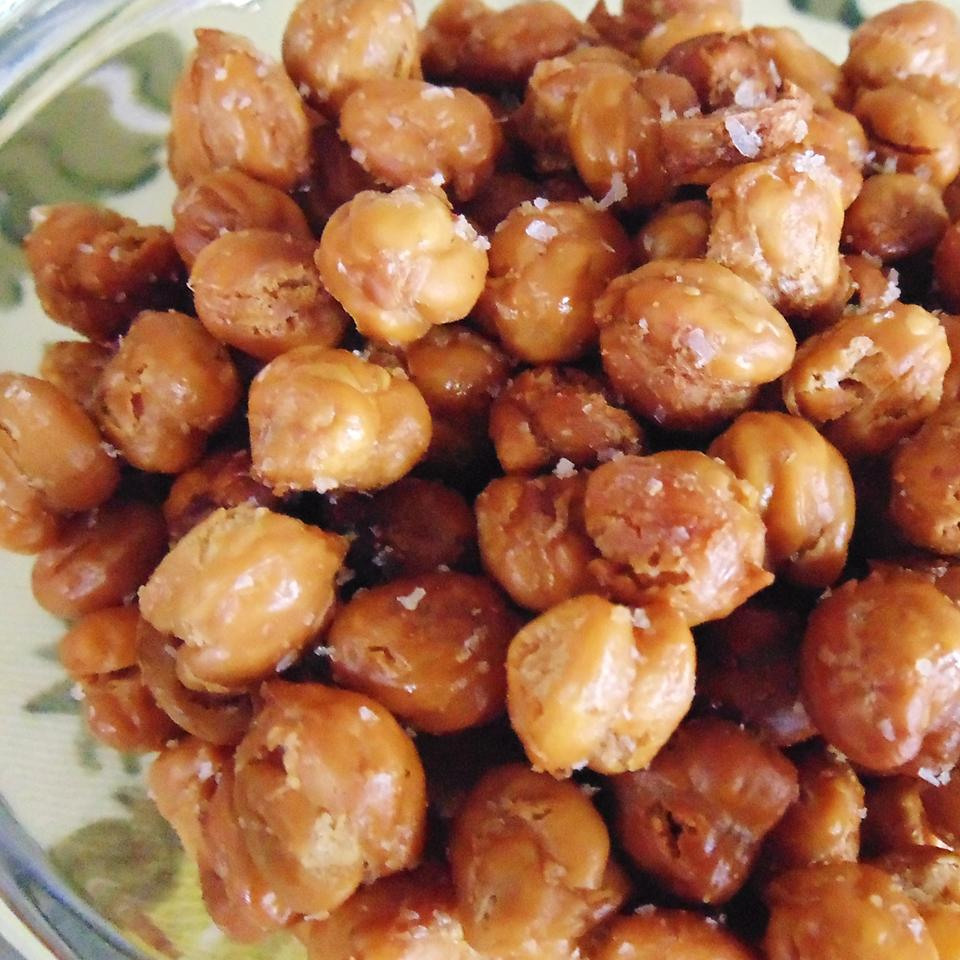 "If you don't have time to soak dried chickpeas like this recipe calls for, use Becksters' method: ""I used canned chickpeas, drained and rinsed, and then I let them dry out on paper towels for an hour or two."" Make this crunchy, salty snack as a healthy protein-packed alternative to chips."