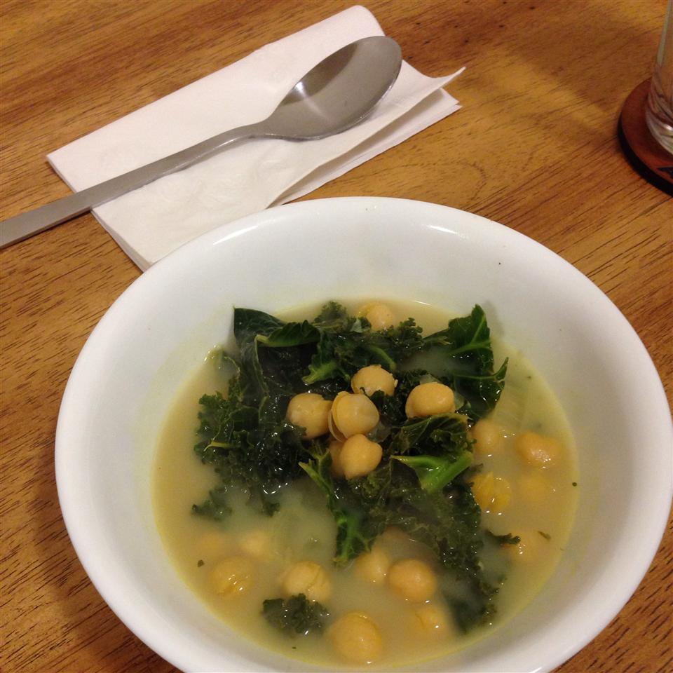 Vegan Kale and Chickpea Soup Jennifer Angela