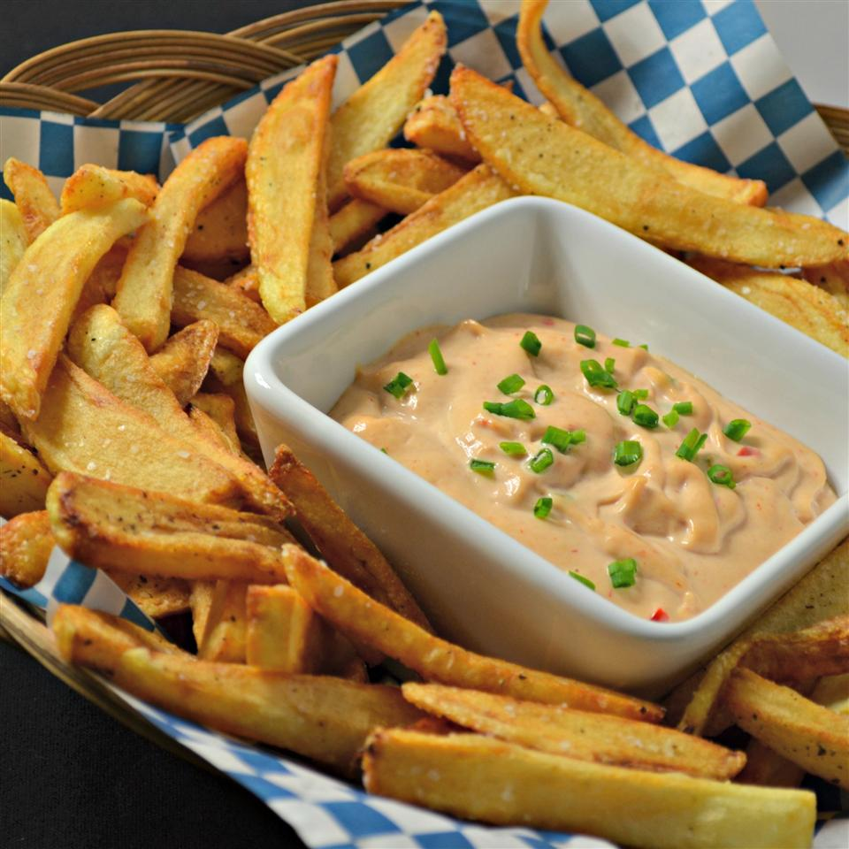 Flemish Frites - Belgian Fries with Andalouse Sauce