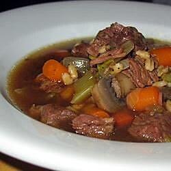 beefy mushroom barley soup recipe