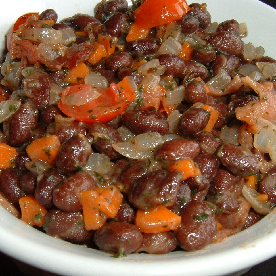 Black Beans with Bacon Caroline C