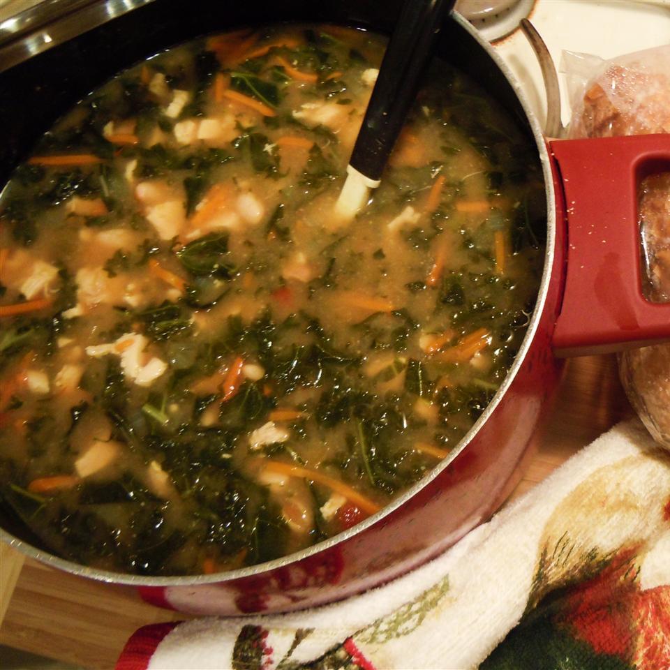 Savory Kale, Cannellini Bean, and Potato Soup