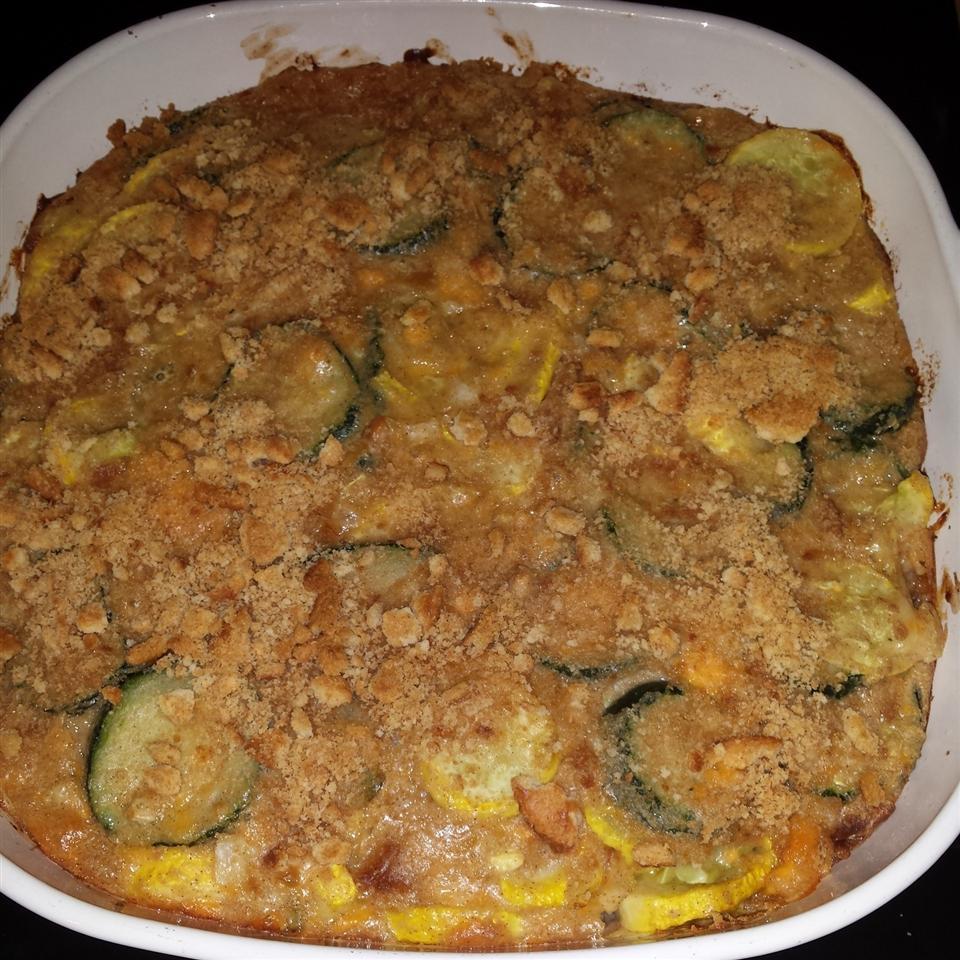 Cheesy Squash and Zucchini Casserole Katrina