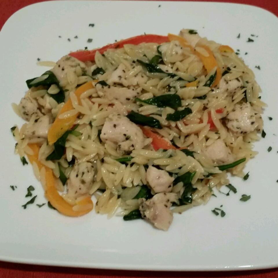 Garlic Chicken with Orzo Noodles jaysters