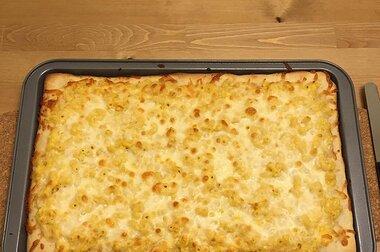 mac n cheese pizza recipe