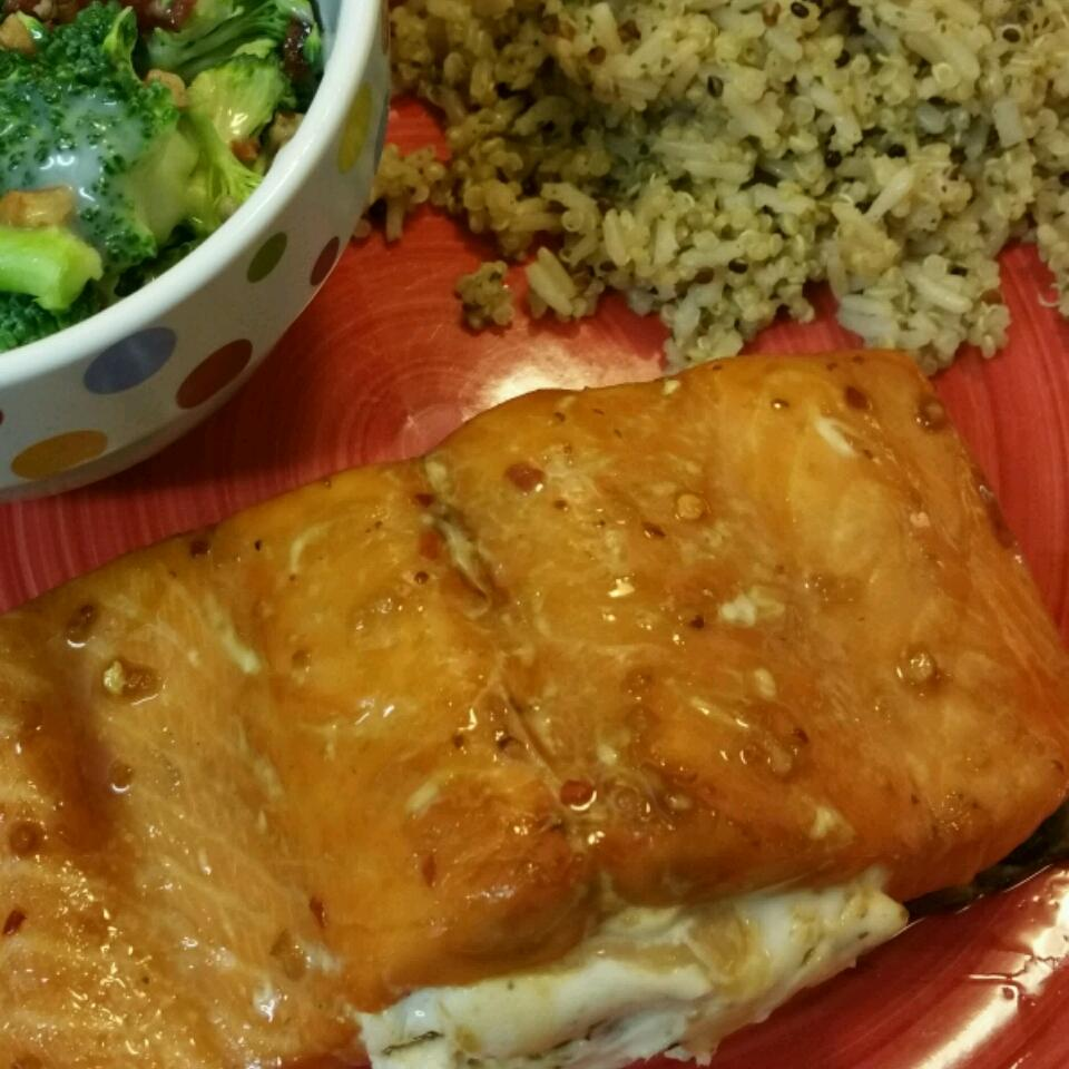 Sara's Soy Marinated and Cream Cheese-Stuffed Salmon Diana