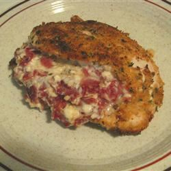 Feta and Bacon Stuffed Chicken with Onion Mashed Potatoes jametone