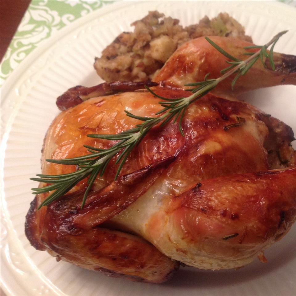 Grilled Game Hens with Blood Orange and Rosemary
