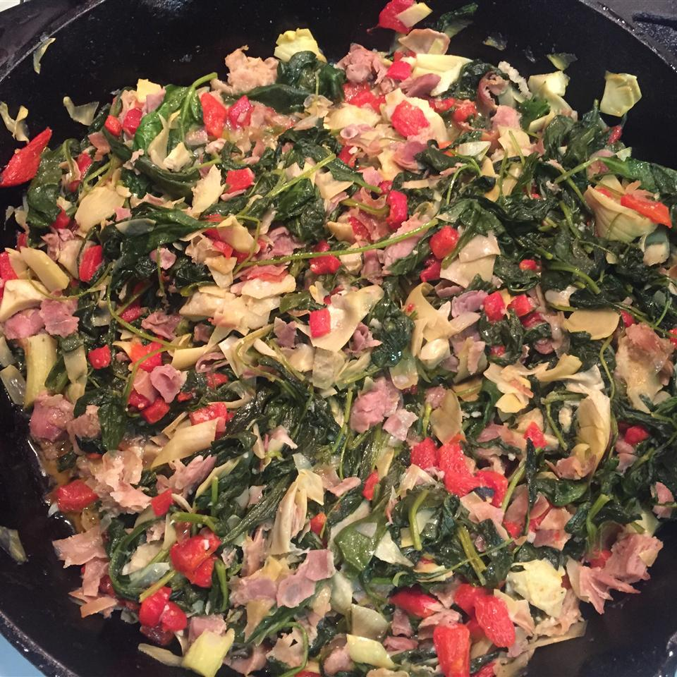 Colorful Spinach and Prosciutto Side Tami Lyn Vargason Idol