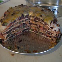 Seven Layer Tortilla Pie imallie