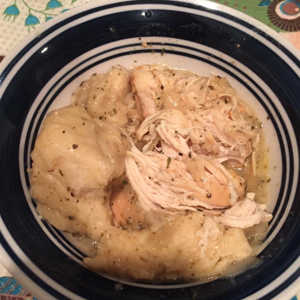 Slow Cooker Creamy Chicken and Dumplings