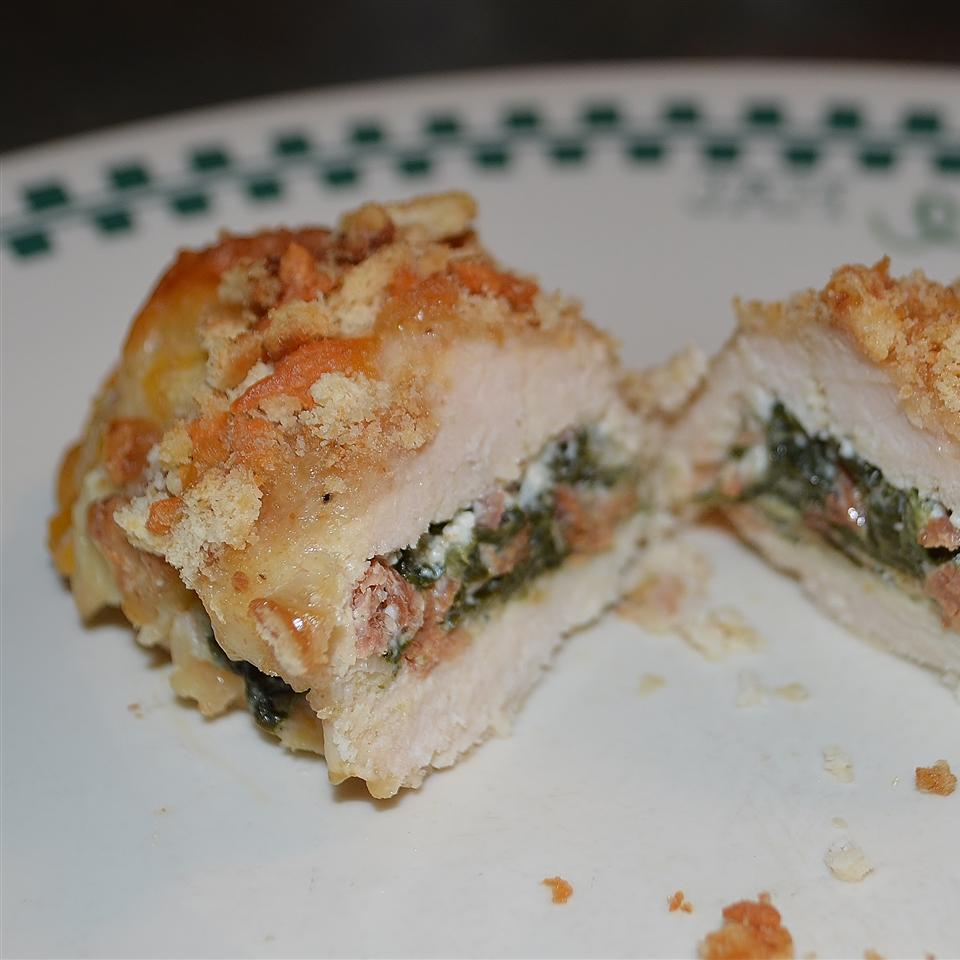 Spinach and Cream Cheese Stuffed Chicken Breast