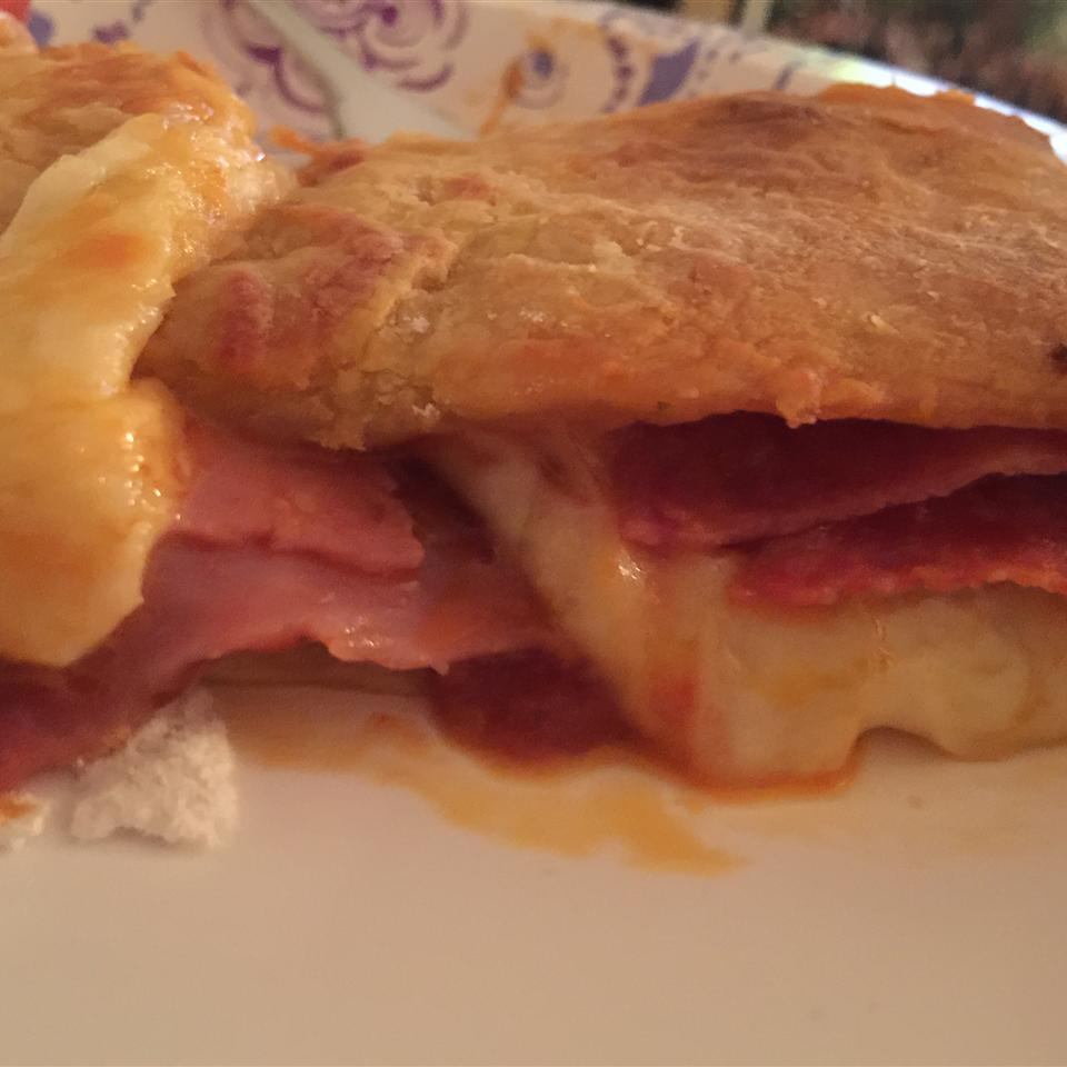 Ham and Cheese Stromboli Britney Martin