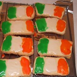 Irish Flag Cookies curly girl