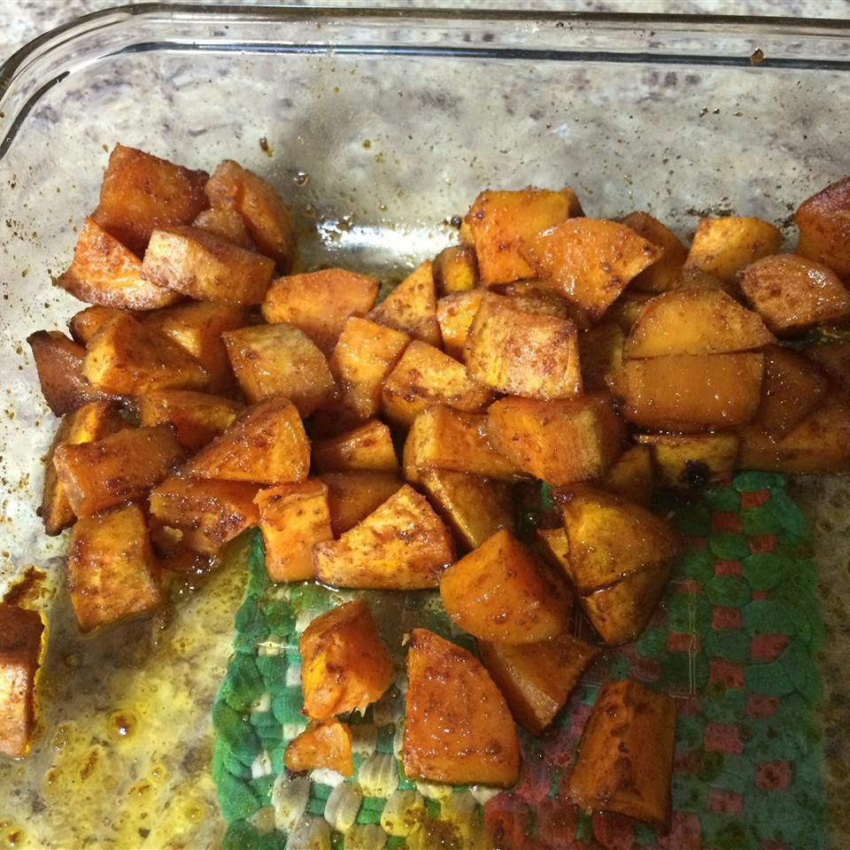 Cajun Style Baked Sweet Potato tiffclanton