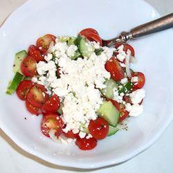 Tomato, Basil, and Feta Salad
